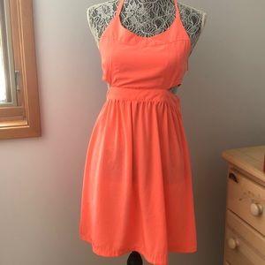 Bright Coral Mini Dress